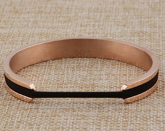 Hair Tie or Hair Band Bangle Bracelet Silver Gold Rose Gold