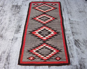 Navajo Long Rug , American Southwest , 1st Quarter 20th Century , 8.9 x 4.5