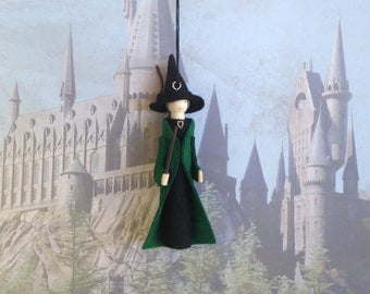 Professor McGonagall Clothespin Doll Ornament