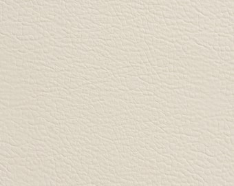 Ivory Matte Leather Grain Upholstery Faux Leather By The Yard | Pattern # G359