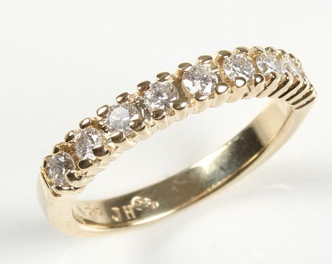Eternity Wedding Band-Diamond Engagement Ring-Diamond Jewelry-Diamond Band-Anniversary Gift-Half-Eternity Ring-multistone ring-women jewelry