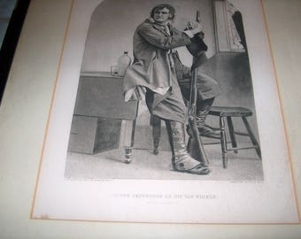Vintage Gravue Print, Copyrighted 1887 by Gebbie & Co., Joseph Jefferson as Rip Van Winkle