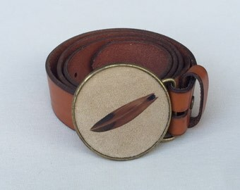 Feather Belt Buckle In Sand