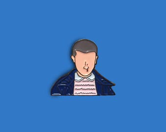 Stranger Things Eleven Enamel Pin (Stranger Things Enamel Pin, Eleven enamel pin, El enamel pin, Stranger Things)
