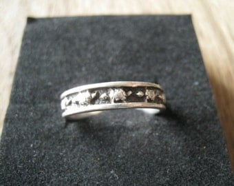 Sterling Silver Turtle Band Ring 7.5-7.75 (89)