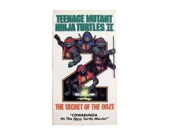 Teenage Mutant Ninja Turtles 2 VHS