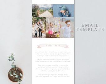 Photography email template, portrait email template, newborn photography email template, psd email template, EMAIL TEMPLATE 4844