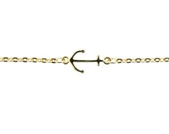 Gold Anchor Anklet