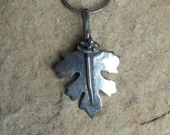 Sterling Silver Hawthorn Leaf pendant