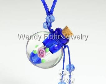 Murano Glass Bottle Necklace