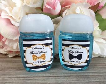 Little Man Hand Sanitizer Labels, Bow Tie Baby Shower Favor Labels, Black  Tie Bridal