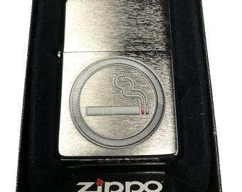 Zippo Custom Lighter - Smoking OK Icon - Brushed Chrome ZP - AH - 200-CI405374