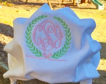 Monogrammed baby bonnet / girls hat with monogram / personalized Easter bonnet