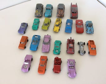 22 Piece Vintage Midgetoy Car Collection - Cast Aluminum - Various Colors, Styles and Sizes