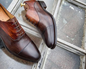 Mr. Duke - made to order leather shoes with personalisation available (fantastic wedding shoes and/or gift)