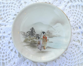 Vintage Nippon E-OH Hand Painted Porcelain Plate