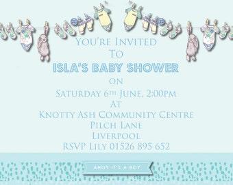 Baby Shower Boys Invitation. Printable