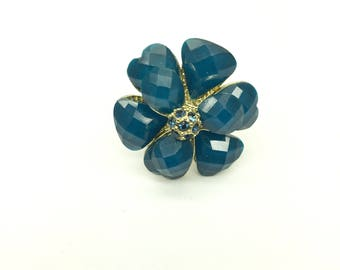 Vintage Sapphire Flower Ring