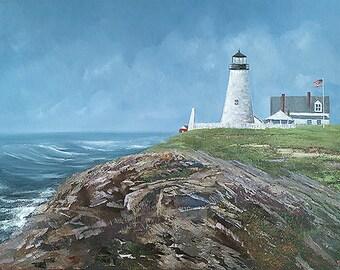 Seascape Print of Pemaquid Lighthouse Bristol Maine by Greg Butterrworth