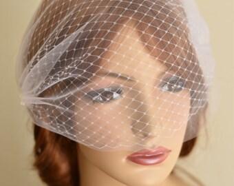 Double layer birdcage Veil, Double layer veil, Tulle Veil, Blusher Veil, double birdcage veil, wedding veil, mini veil, boho veil