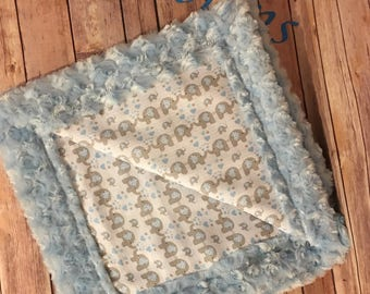 Baby Blue Elephant Baby Blanket