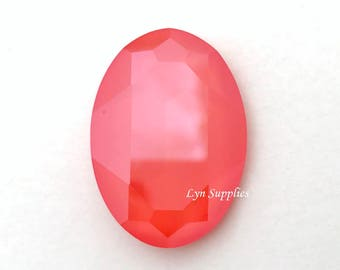 4127 LIGHT CORAL 30x22mm Swarovski Crystal Oval Fancy Stone, No Hole