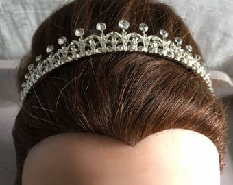 Tiara crown wedding prom diamanté