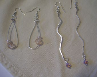 Wire Loop Bangles/Snake Earrings