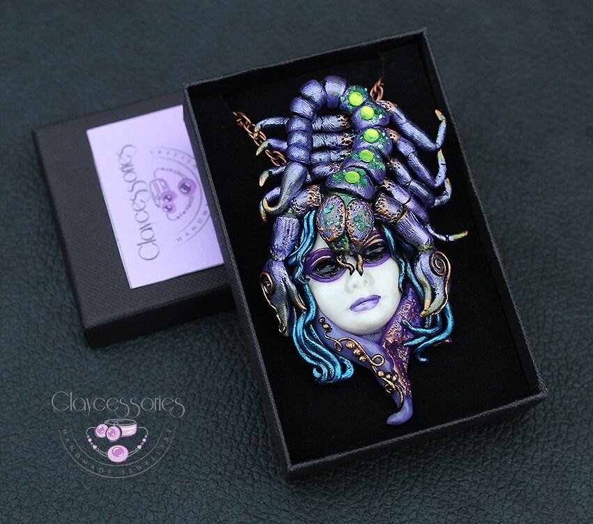 Scorpio pendant / Scorpio necklace / Zodiac pendant / Scorpio  zodiac /Scorpio gift/ Scorpio jewelry/Horoscope pendant /Polymer clay pendant