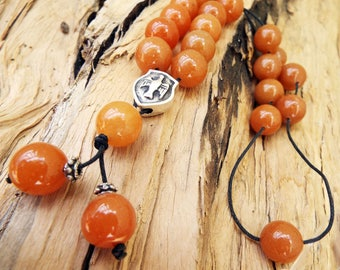 Komboloi Greek Worry Beads Aventurine Red Prayer Beads Rosary Beads Turkish Tasbih Handmade Gemstone