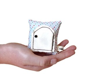 Tooth Fairy Pillow, Teeny Tiny White with Confetti Polka Dots Tooth Fairy Pillow, Keepsake Pillow, Children