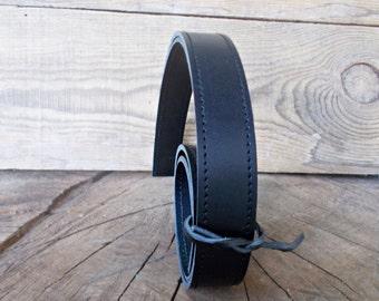 Pair straps, Leather handles, Bag Straps, Craft supplies, Vegan leather strap, Purse Strap, Leather Handbag Strap, Black leather