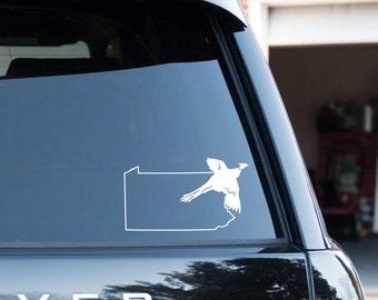 Pheasant over Pennsylvania Vinyl Decal
