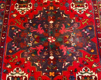 Persian Rug 5x7 Area Rug Handknotted Vintage Piece. Shabby Chic/ Boho Style Beautiful Colors! ~Gypsy Rugs (486)