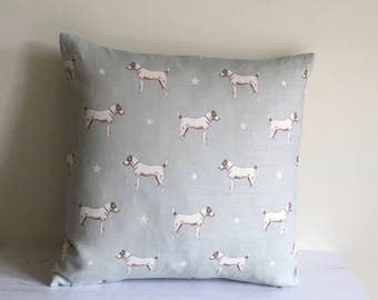 Cushion Cover in Peony and Sage JACK ALL STARS Duck Egg