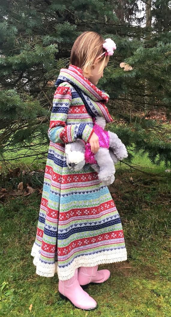 Girls winter dress / girls sweater dress / girls warm dress / toddler dress / junior dress / matching dress, leggings, and infinity scarf