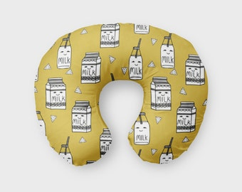 Nursing Pillow Cover Mustard Milk. Nursing Pillow Cover. Mustard Boppy Cover. Baby Bedding. Nursing Pillow Cover. Mustard Nursing Pillow.