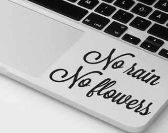 Macbook pro air sticker decal motivational quote laptop cover MacBook palm rest sticker decal laptop sticker notebook decal sticker