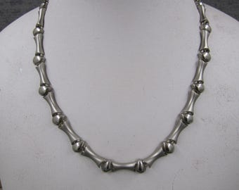 Vintage Silver Necklace with Earrings