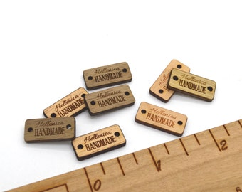 Product Tags - Customized with your text - 0.375 x 0.8 Inches - laser cut and engraved