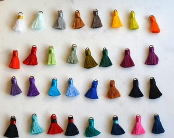 Tassels, Mini Tassels, Jewelry Tassels, Tassles,Small Tassels, Craft Tassels, Tassels for Jewelry, Jewellery,CHOOSE YOUR COLORS,Pack of 6