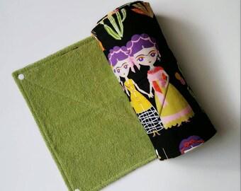 Reusable Paper Towel, Unpaper Towels, Frida Kahlo,Ecofriendly Towels,Mexican, Kitchen Napkins,Alexander Henry Esperanza