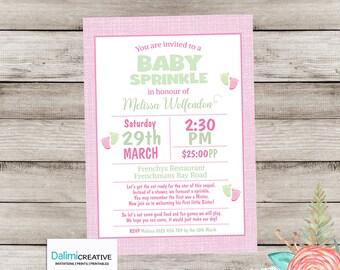 Baby Sprinkle Invitation - Pink Shower Invitation - Pink Invitation - Baby Sprinkle Party - Printable Invitation!