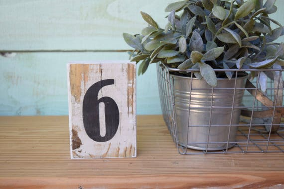 SALE! Chippy Paint Wood Number Sign ~ #6 or #9