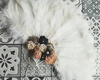 Ostrich Feather fan, wedding fan, ostrich fan, ostrich feathers, fan, bridal fan, bridesmaid fan, wedding fan, burlesque fan, show fan