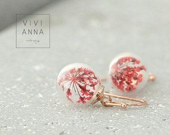Rose Gold Flower Earrings - E335