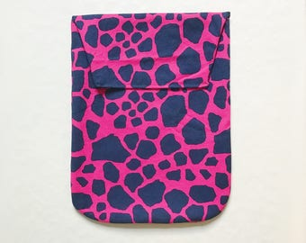 Diaper Clutch-Pink Giraffe Pattern-Ready to Ship