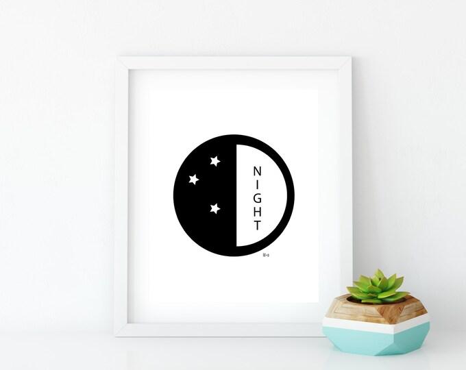 Good Night Art Print (5), Instant Digital Download
