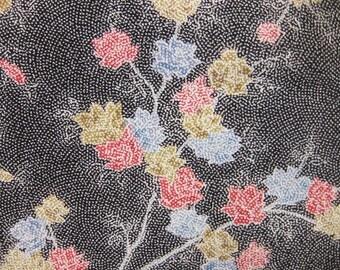 """13""""w. x 30.4""""l. Vintage kimono silk fabric-flower 2556I"""