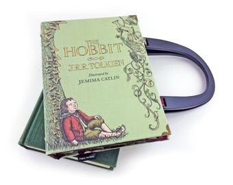 "The Hobbit Handbag, JRR Tolkien, Hobbit bag, Hobbit purse, The Lord of the Rings Handbag, ""In a hole in the ground there lived a hobbit..."""